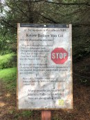 Be smart! Read these signs before hiking.