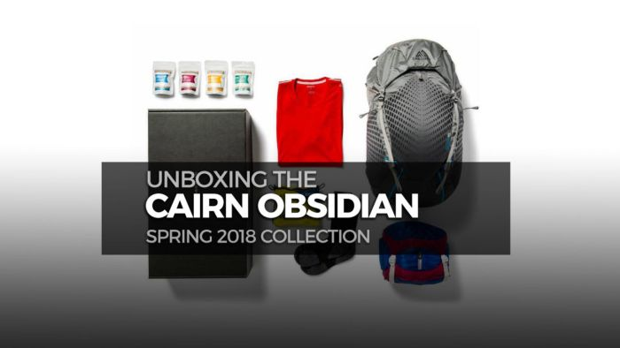 What's in the Spring 2018 Cairn Obsidian box?