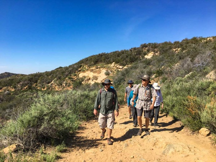 Our hiking crew in Daley Ranch