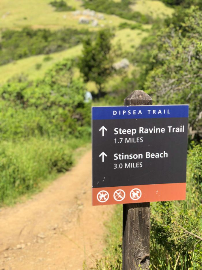 Dipsea Trail sign