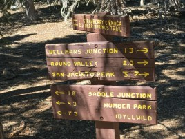 Junction where you leave the PCT