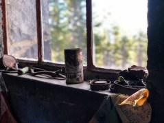 Old stuff in the window sill