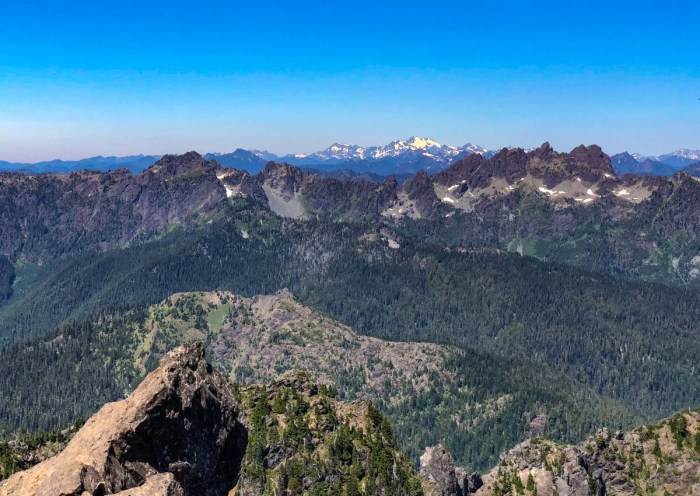 Mount Olympus, as seen from the top of Mount Ellinor