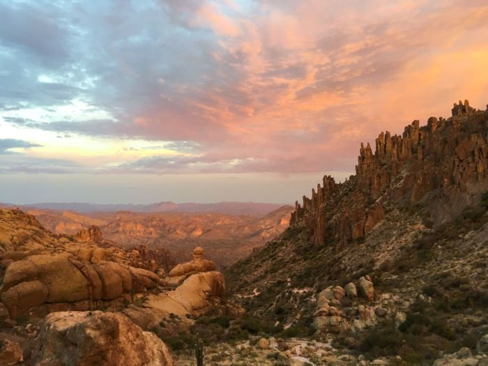 The view from Fremont Saddle can be spectacular
