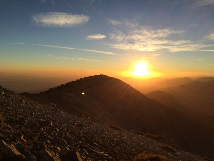 Sunset from Mount Baldy