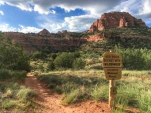 Entering the Red Rock Secret Mountain Wilderness