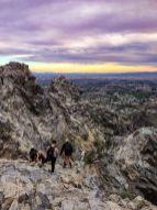 Watching hikers make the final scramble up Piestewa Peak