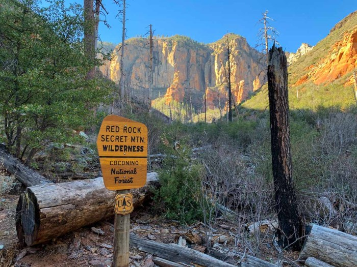 Entering Red Rock Secret Mountain Wilderness