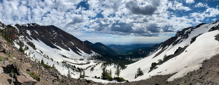Panorama from the saddle