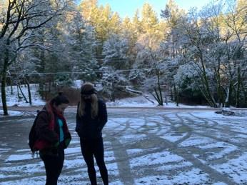 Snow at the Mt Saint Helena trailhead