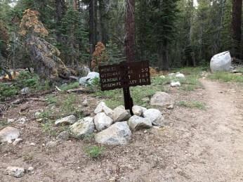 Moraine Meadow Trail Junction