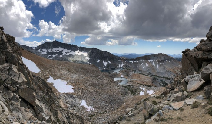View from Red Peak Pass Looking South towards Upper Ottoway Lakes