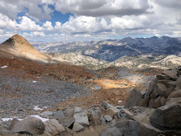 View from Red Peak Pass Looking North towards Yosemite