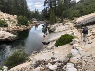 Heading down the Merced River