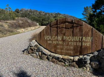 Entrance to the Volcan Mountain Wilderness Preserve