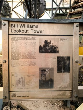 Bill Williams Lookout Tower Info Sign
