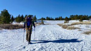 Jason approaching Sawmill Mountain