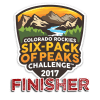 2017 Colorado Rockies Six-Pack of Peaks Finisher