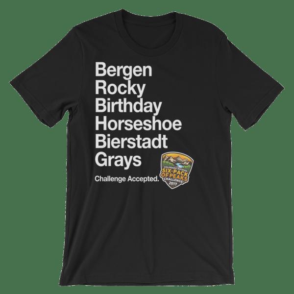 2017 Colorado Rockies Six-Pack of Peaks Men's T-shirt