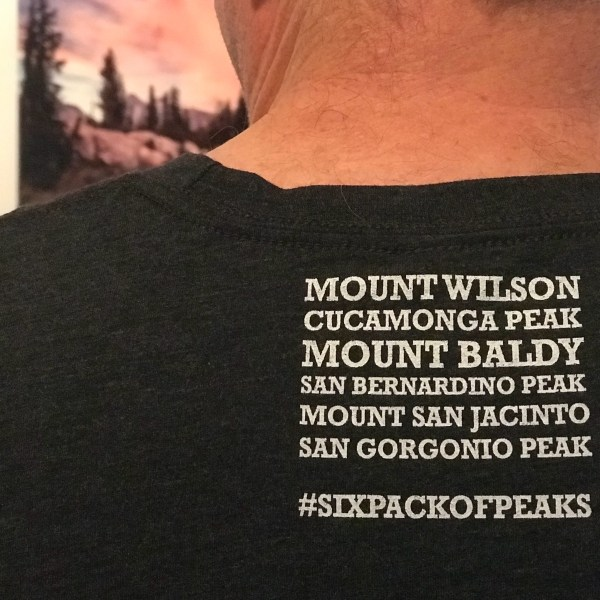All six peaks printed on the back