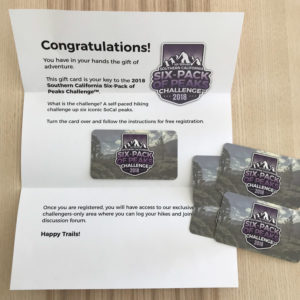 Six-Pack gift cards