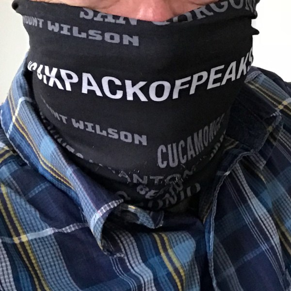 Six-Pack of Peaks Face Mask