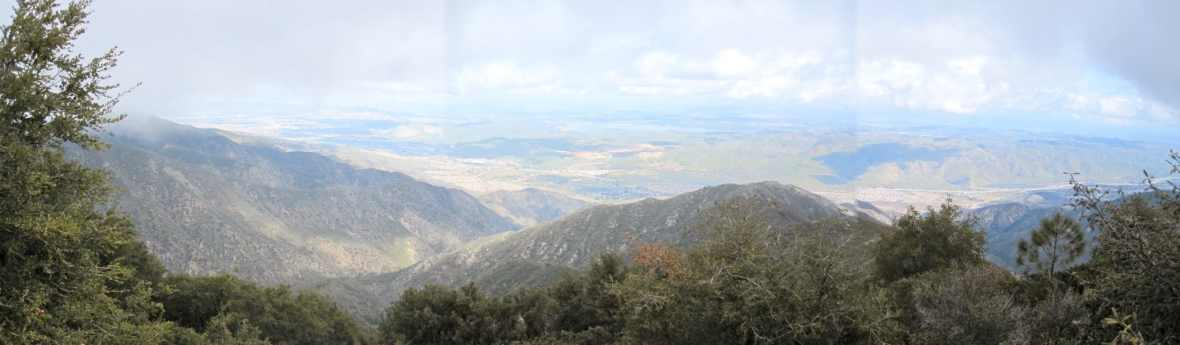 On the way up Santiago Peak