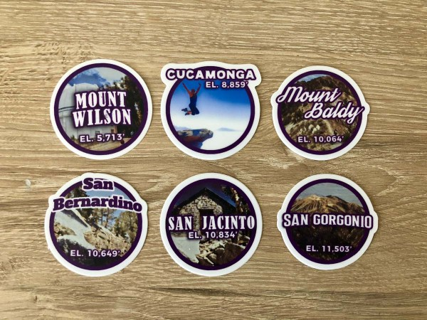 Original SoCal Six-Pack of Peaks Sticker Set