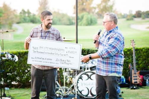 Presenting a Check to BCM