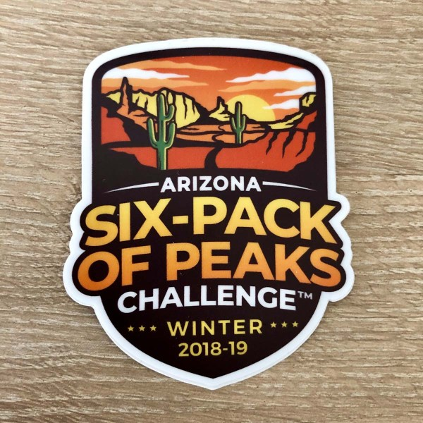 Arizona Winter Six-Pack of Peaks Sticker