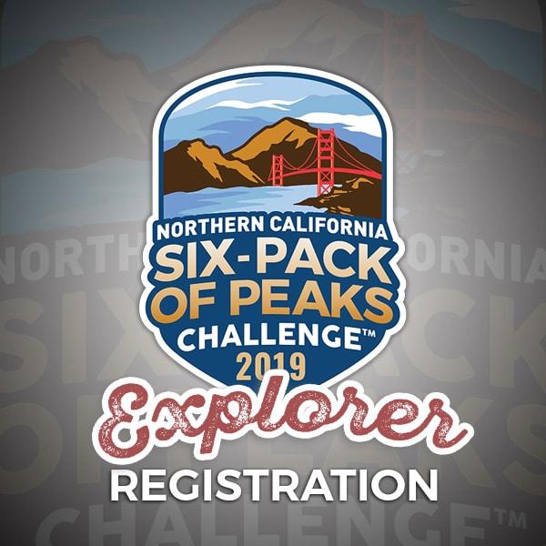 2019 NorCal Six-Pack of Peaks Challenge - Explorer Registration