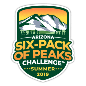 Arizona Summer Six-Pack of Peaks Challenge logo