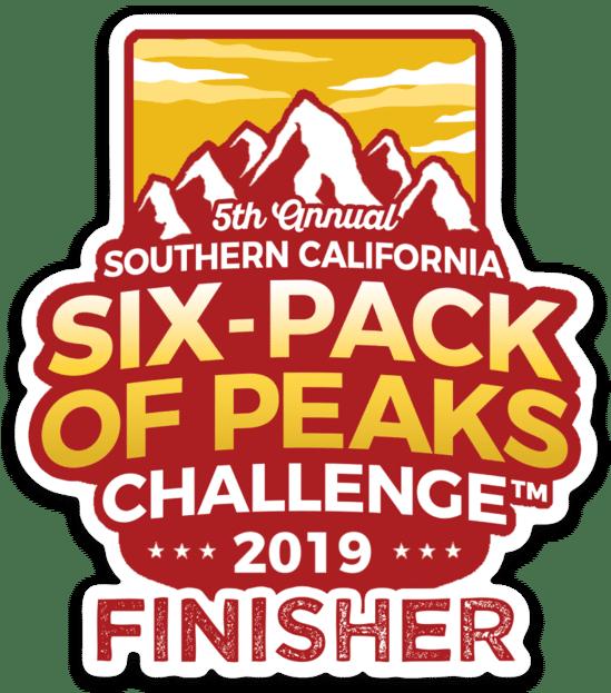 2019 SoCal Finisher Sticker