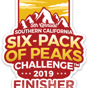 2019 SoCal Finisher Sticker