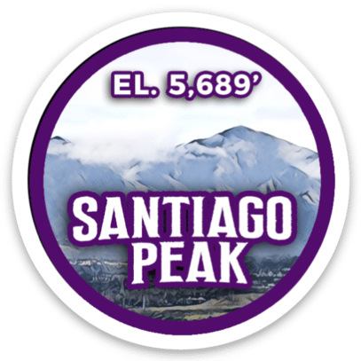 Santiago Peak Sticker
