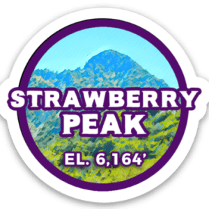 Strawberry Peak Sticker