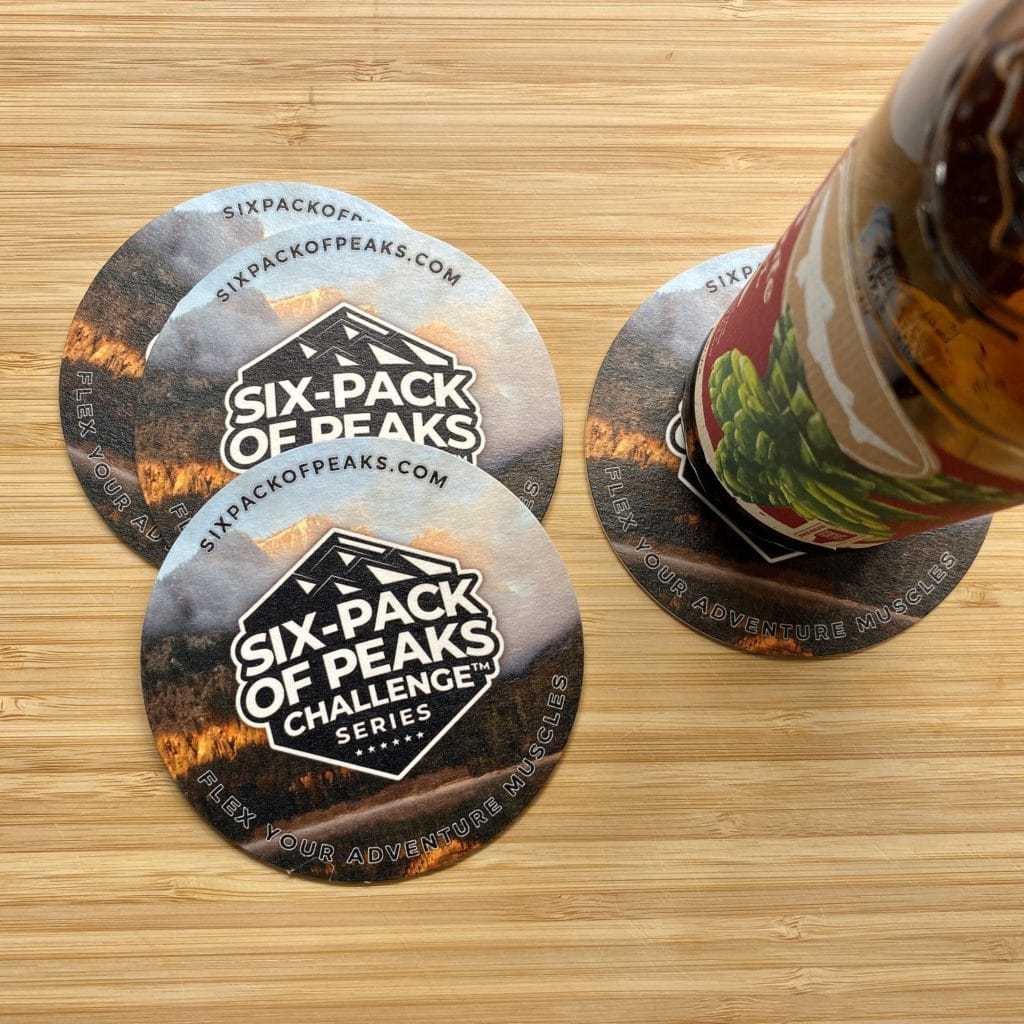 Six-Pack of Peaks Series Coaster (action)