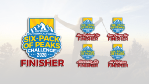2020 SoCal Six-Pack of Peaks Finishers Badges