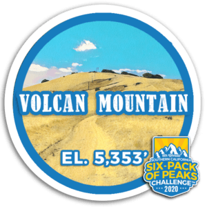 I hiked Volcan Mountain
