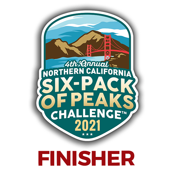 2021 NorCal Six-Pack of Peaks Finisher