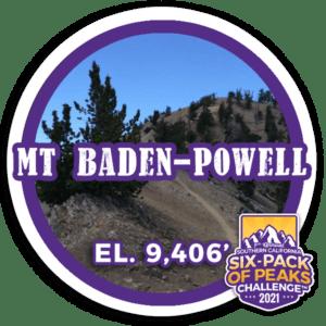 2021 Mount Baden-Powell badge