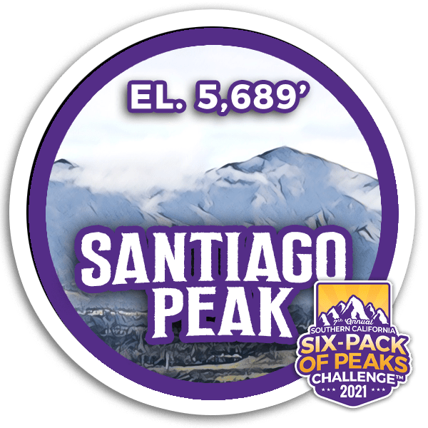 2021 Santiago Peak badge
