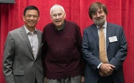 JBL Center Director Zhi-Min Yuan, Professor Emeritus John B. Little, Acting Dean David Hunter