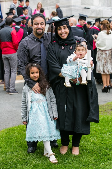 Student with her family