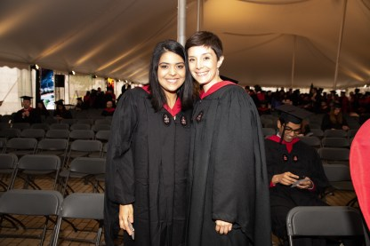 Students in tent