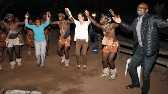 Mokolodi Dancers with Kelesitse Phiri, Laura Bogart and Josh Mugo