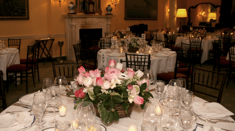 The flowers were beautifully arranged by Cathy Graham.