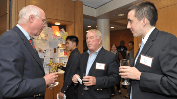 Peter Quinn, Edward Scott, and Eric Wind at the reception