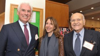 Ambassador John Danilovitch, Irene Danilovitch, and honoree Maurice Tempelsman