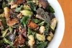 Three-Green & Wheat Berry Salad with Mushroom Bacon